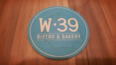 The W39 cafe logo everywhere