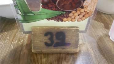 My table number at a restaurant I was dining at