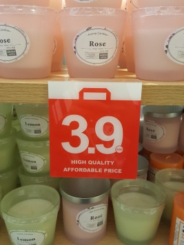 Candles that cost $3.90 each!