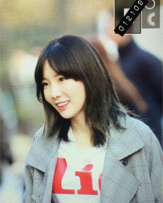 Taeyeon on the way to work for Music Bank on 3/3/17