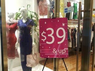 The sale display outside a shop in The Star Vista