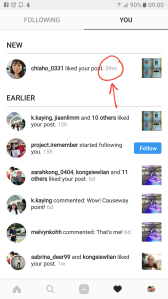 My cousin from Sarawak liked my post 39 minutes ago