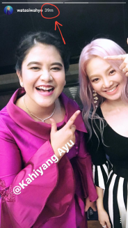 Saw Hyoyeon's instastory taken in Indonesia 39 minutes ago!