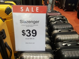 There was a travel luggage fair at Causeway Point and I saw these luggages selling at $39!