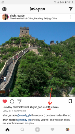39 and 2 others liked this. This photo was posted by a NTU friend whom I had met in China during my summer studies in Tianjin in 2014 too!