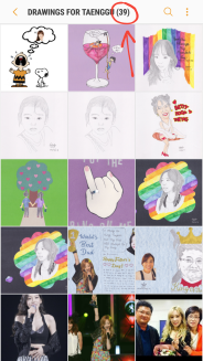 I have 39 pieces of artworks of Taenggu in my photo gallery folder