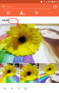 I happened to post these photos of my monthsary drawing and flower on Kakaostory at 9:39pm