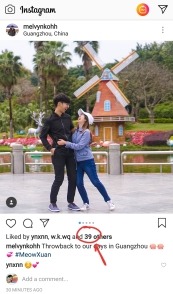 39+2 likes on my brother's instagram photo with his girlfriend