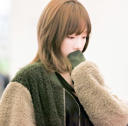 Photo of her at Gimpo Airport