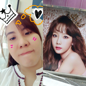 Taenggu and I wearing a crown on the same day