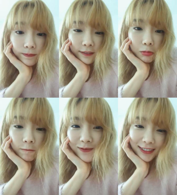 Taeyeon on her instagram live video