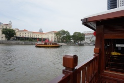 On board the Singapore River Cruise