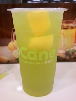 Sugarcane juice with lemon