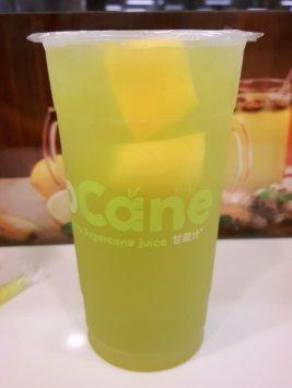 Sugarcane juice with lemon