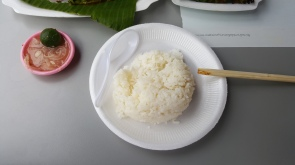 Not forgetting a plate of rice to go with the dishes too!